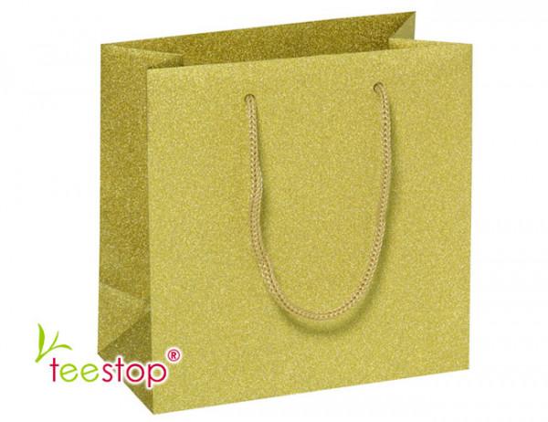 Geschenktragetasche gold zum Befüllen