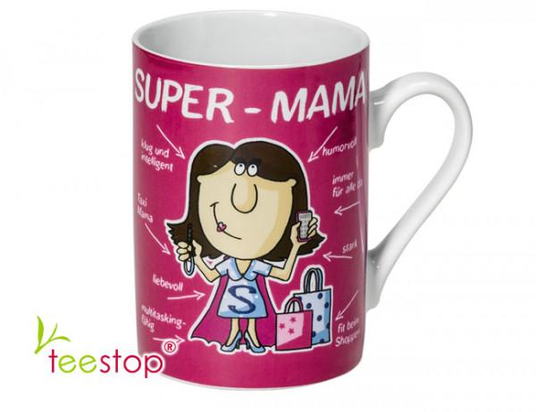 Becher Super Mama aus Porzellan