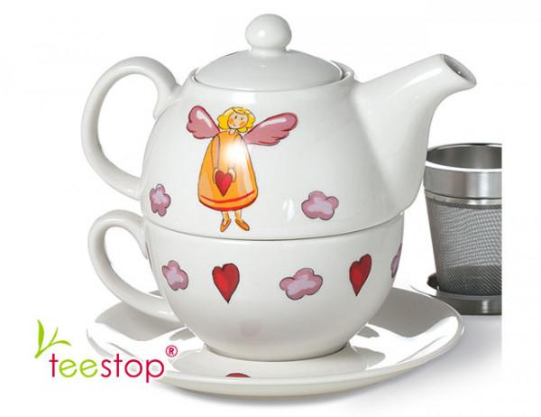 Tea for One Set Schutzengel aus Porzellan von Cha Cult