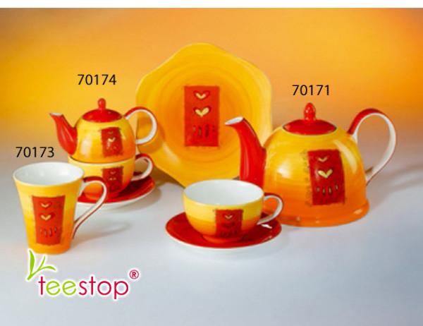 Tea for One Set Naomi aus Keramik mit Goldauflage Cha Cult