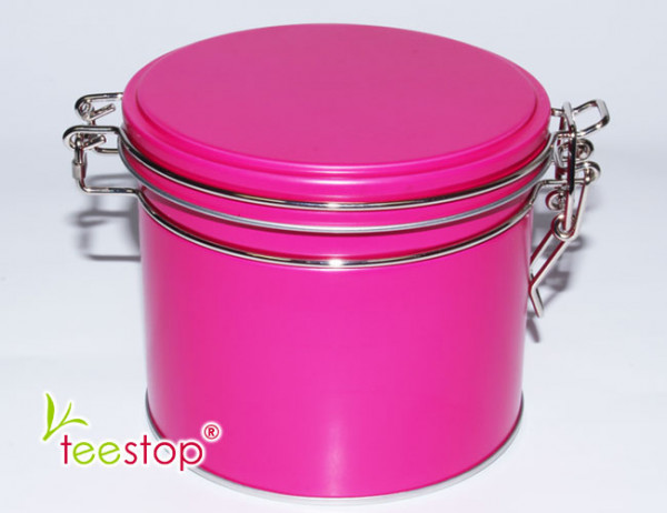 Dose Elegant Pink mit Bügelverschluss