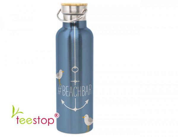 Edelstahl Trinkflasche Beachbar 750 ml