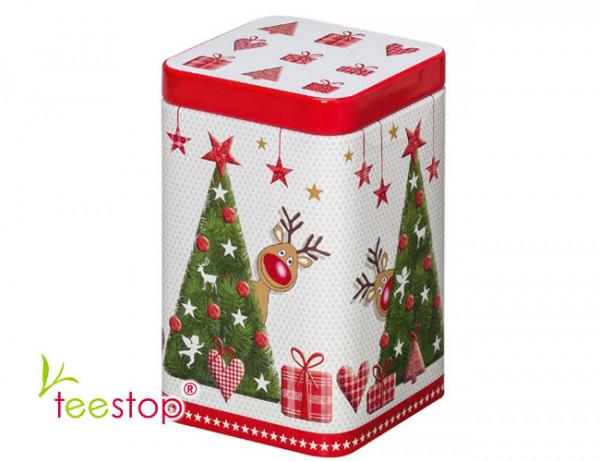 Weihnachtsdose Rudolph mit Steckdeckel 100g