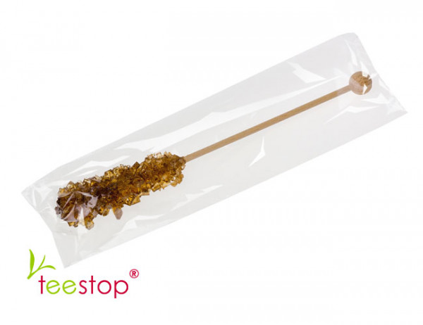 braune Kandisstick 17 cm lang und einzeln verpackt
