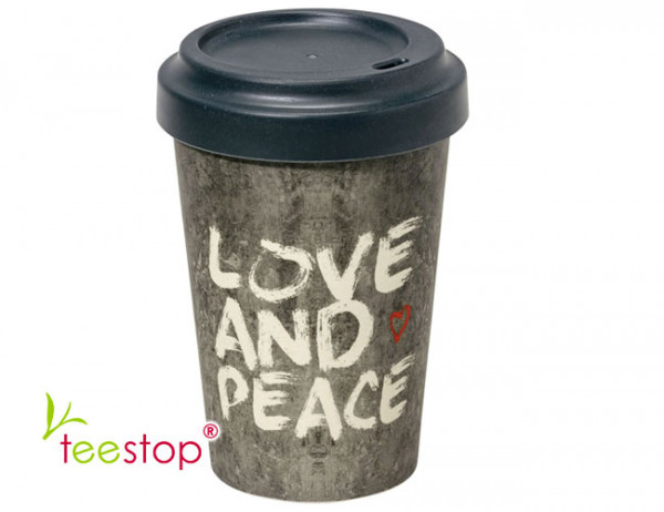 Bambus Becher To Go - Love and Peace