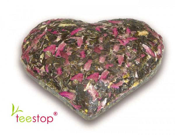 Creano TeeSchmuckstücke Herz - gepresster grüner Tee