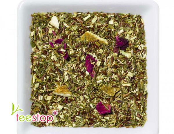 Eistee Grüner Rooibusch Tee Tropical Punsch
