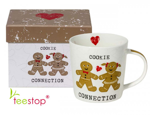 Becher Cookie Connection aus Porzellan im Geschenkkarton verpackt