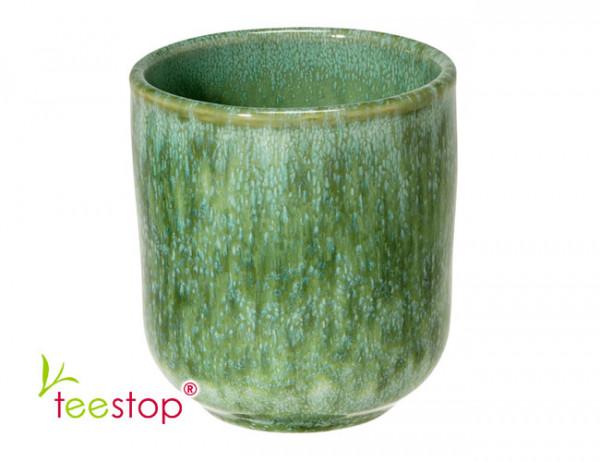 Steingut Becher Criativa in grün- handgemacht-made in Portugal
