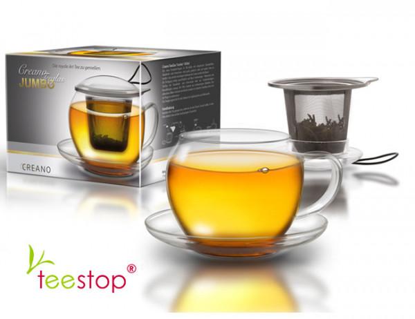 Jumbo Teeglas 450ml Set von creano im Geschenkkarton