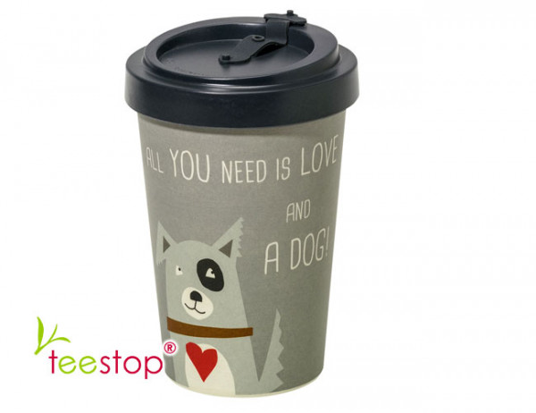 Bambus Becher To Go Love and Dog