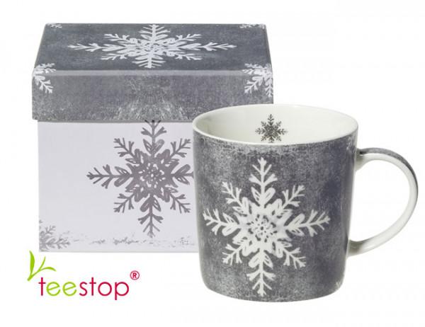 Becher Ice Silver aus Porzellan im Geschenkkarton verpackt
