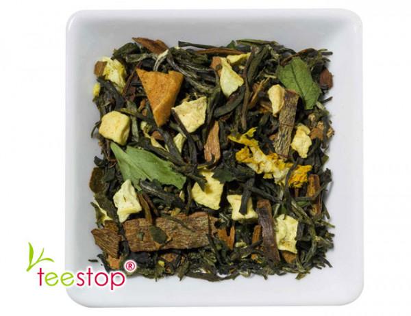 Wintertee Weißer Tee Heißer Zimtapfel