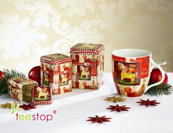 Winter Tee Becher Weihnachtsträume aus Porzellan