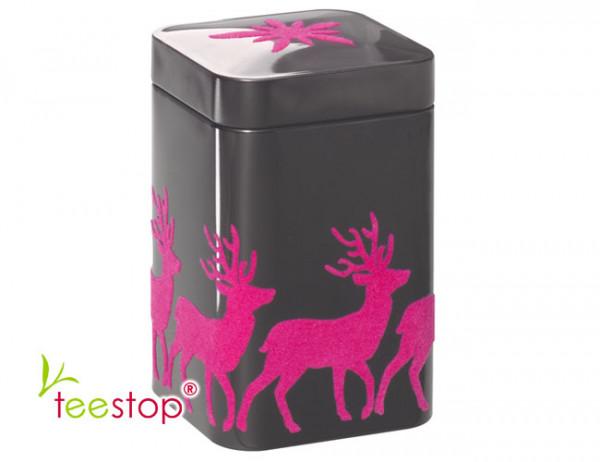 Dose Pink Deer mit pinkfarbener Beflockung