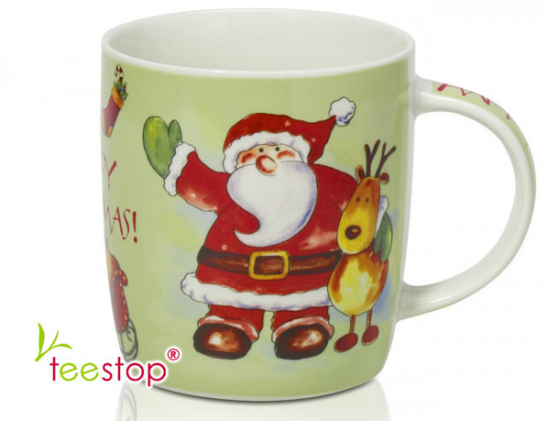 Winter Becher Santa Claus aus Porzellan (0,33l)