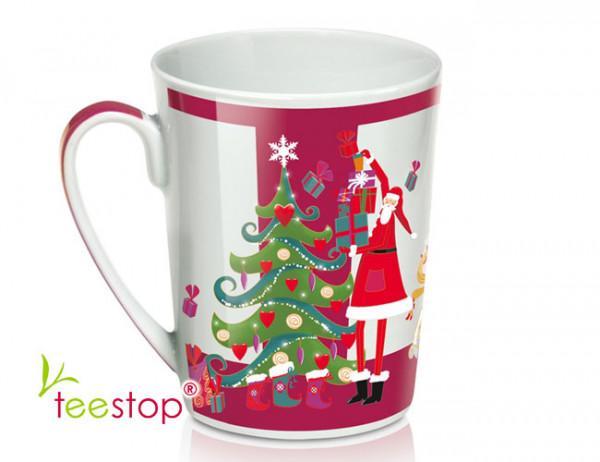 Becher Classic Christmas aus Porzellan (0,25l) mit Weihnachtsmotiv (Seite A)