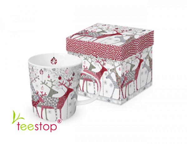 Becher Scandic Christmas aus Porzellan in Geschenkbox verpackt