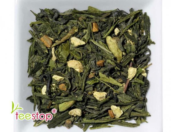 Grüntee Grüner Chai mit frisch, würziger Ingwer - Zimt Note