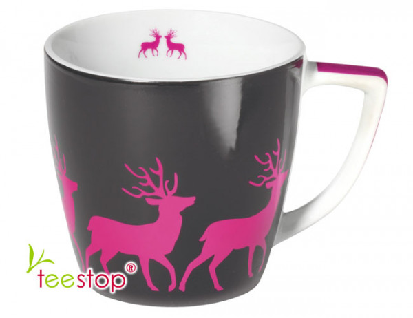 Winterbecher Pink Deer aus Porzellan