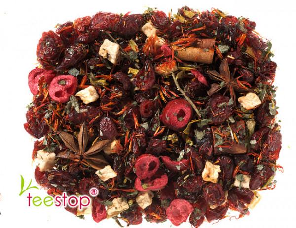 Früchtetee Merry Cranberry mit Cranberry - Eierpunsch Note - säurearm