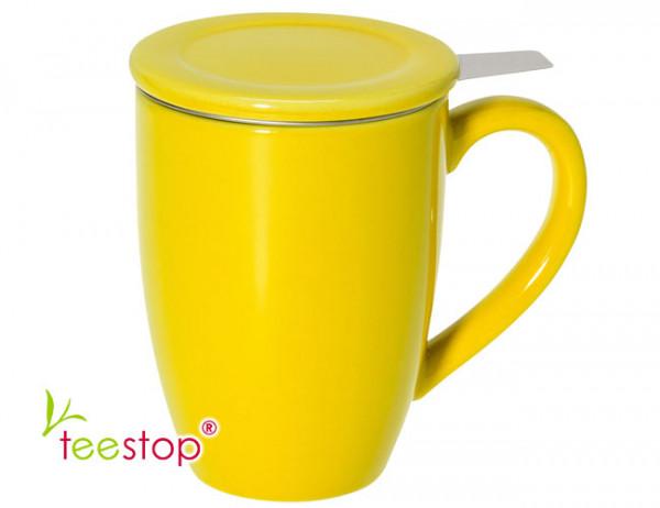 Teesiebbecher Bonnet gelb 0,3 L