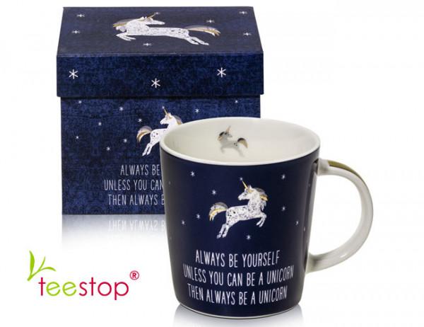 Becher Always Unicorn aus Porzellan im Geschenkkarton verpackt