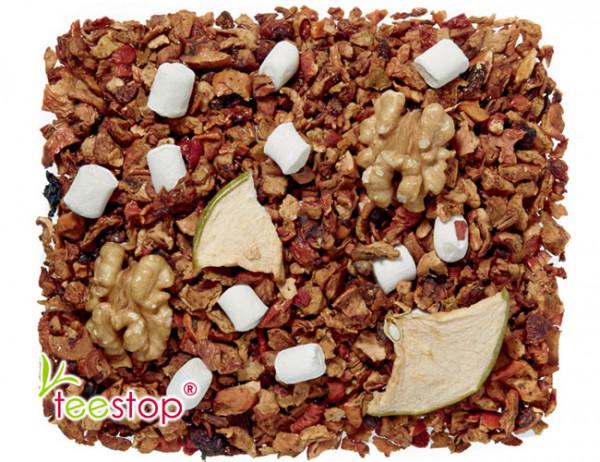säurearme Früchtetee Apfel Walnuss Sahne mit Marshmallows