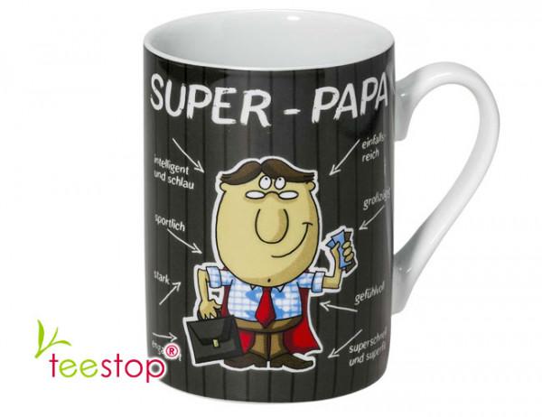 Becher Super Papa aus Porzellan