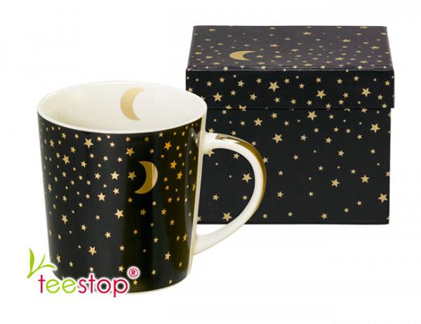 Becher Moonlight real gold aus Porzellan im Geschenkkarton verpackt