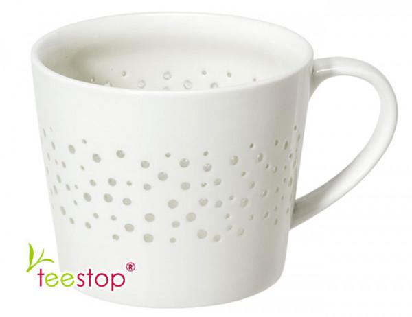 Porzellan Becher Shiny Dots mit transparentem Design
