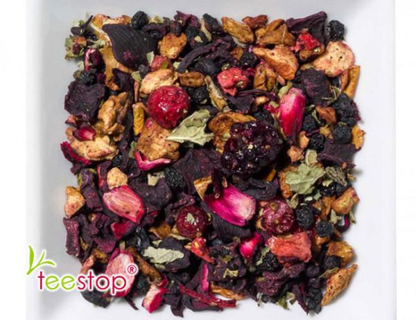 Früchtetee Opas Obstgarten ® mit Erdbeer - Rhabarber - Johannisbeer Note - säurearm