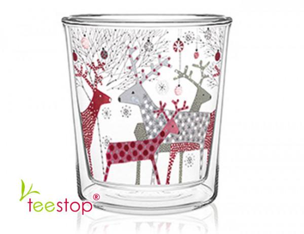 doppelwandiger Teeglasbecher Scandic Christmas