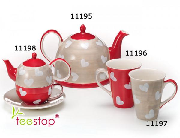 Tea for One Set Corazon aus Keramik von Cha Cult