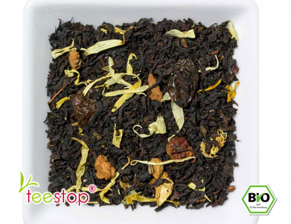 Aromatisierter Schwarztee Roter Weinbergpfirsich aus kontrolliert biologischem Anbau