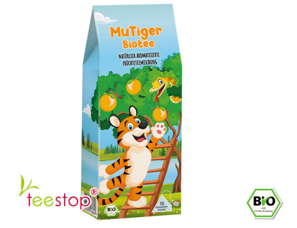 Bio Kindertee Früchtete MuTiger (Orange) Pyramidenbeutel