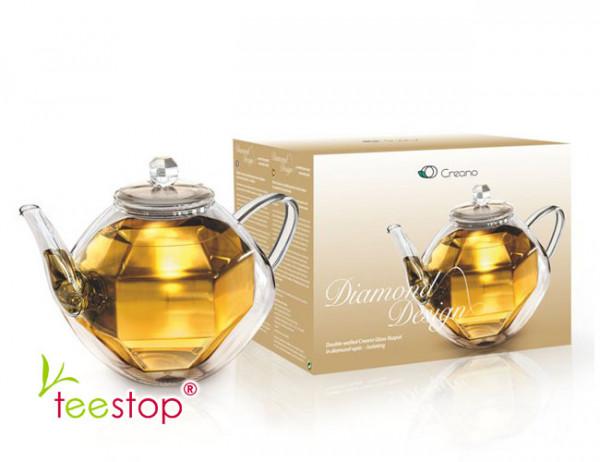 Teekanne Creano doppelwandig diamonddesign