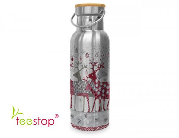 Edelstahl Trinkflasche Scandic Christmas 500ml
